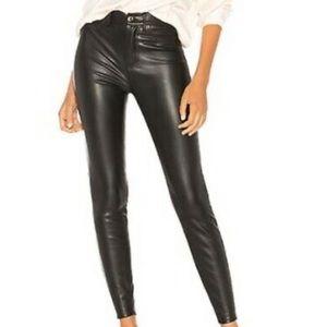 NEW Free People Vegan Black Skinny Pants 27